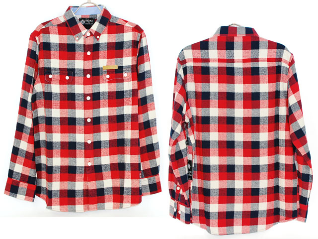Crooks_check_nel_shirts_red_3