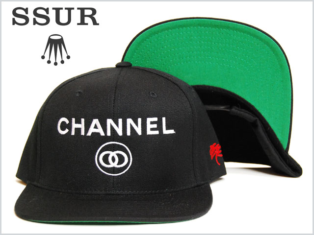 Ssur_channel_logo_snap_back_cap_bla