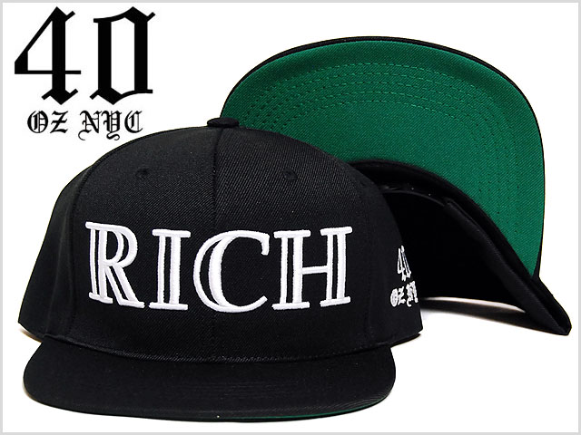 40oz_nyc_richlogo_snap_back_cap_bla