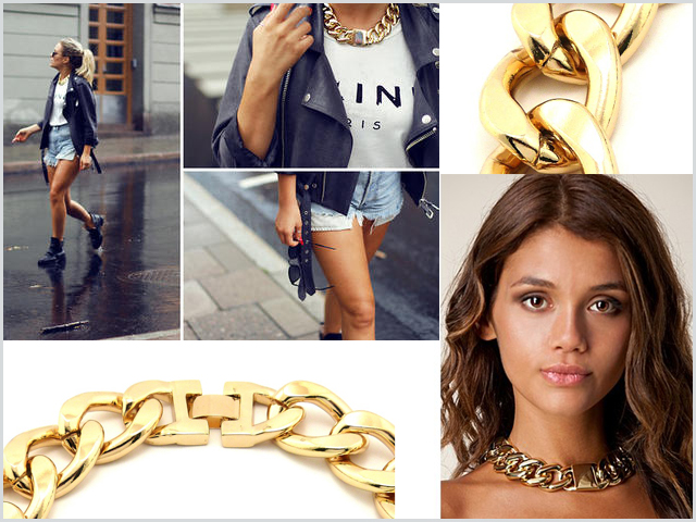 Nobrand_celine_chunky_necklace_gold