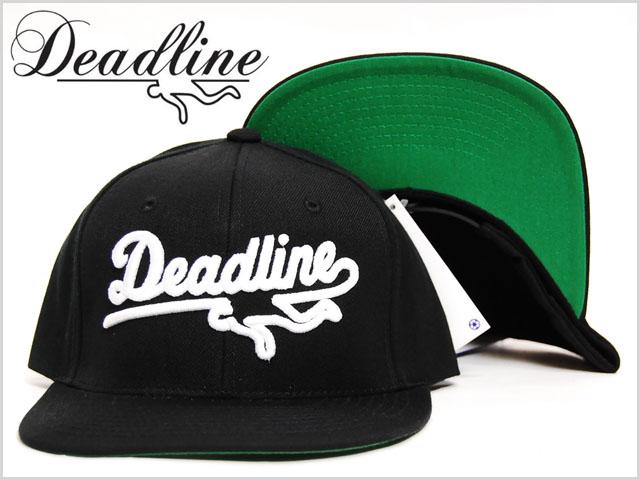 Deadline_logo_snapback_cap_black1